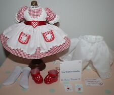 """New Listing8"""" Madame Alexander Ma Red Gingham Outfit tagged Love Notes For Grandma"""