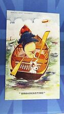Vintage Comic Postcard 1925 Radio Theme WIRELESS TERMS ILLUSTRATED BROADCASTING