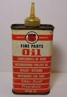 Old Vintage 1950s PHILLIPS 66 GAS OIL CAN TIN 4 OZ OILER BARTLESVILLE OKLAHOMA