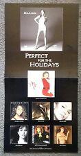 MARIAH CAREY CHRISTMAS #1's (1998) 2-Sided Promo Poster Photo Flat Flats