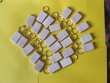 24 KEYRING BLANKS-GILT RINGpyrography,paint engraving-not plywood-£9.95incl post