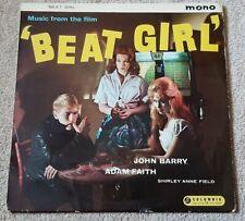 BEAT GIRL SOUNDTRACK VINYL LP - JOHN BARRY - ADAM FAITH - ORIGINAL 33SX 1225