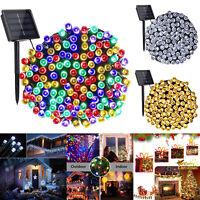 50/100/200/300LED Solare Luci Natale Illuminazione Esterna Festa Giardino