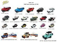 1/64 Johnny Lightning 1980 Toyota Land Cruiser Diecast Model Different Colors