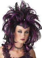 Morris Costumes Women's Witch Evil Sorceres Black Purple Wig. MR177154