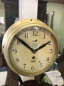 Rare Mercer ships bulkhead clock chronometer maker working antique Australian