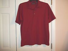 HATHAWAY MEN'S SIZE L. PULLOVER SHIRT SHORT SLEEVES RUST POLO SHIRT 100% COT
