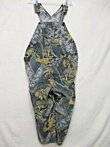 Field Staff Men's sz 42 Camouflage Cargo Mossy Oak Hunting Overalls Pants Bibs