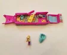 Bluebird Polly Pocket Pool Party on the Go Car Pink Jetski Figure 1995 Vtg