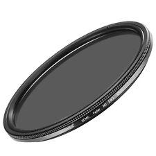 Neewer Filtro de lente ajustable de densidad neutra ND2-ND400 Ultra Slim de 67mm