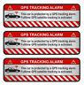 3er Set GPS Auto Alu Schliff Aufkleber Folie Diebstahlschutz Alarm Tracker R054