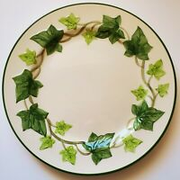 """Franciscan Green Ivy Dinner Plate 10 1/4"""" Hand Painted Made in California"""