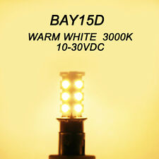 (5pcs) x BAY15d Warm White 10-30V DC LED Lamp Bulb for Marine Boat Ship Signal