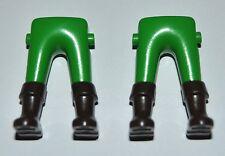 162557 Piernas verde botas marrones 2u playmobil,leg,boot