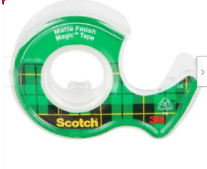 Scotch Magic Tape & Dispenser 3M Matte Finish Sellotape 1, 2,4,6,8,10, 12 Rolls