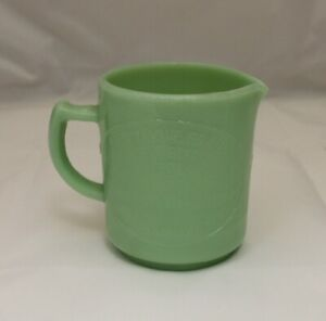 Jadeite Jade Green Measuring Cup Cream Dove Co. Binghamton, NY Depression Glass