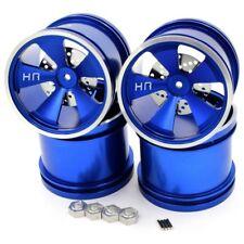 Hot Racing MLT40506 Losi Mini LST Hot Racing Blue Aluminum 5 Spoke Wheels (4)