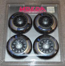 NIP Vtg Set 4 Labeda 76mm 78a MDI Race Inline Roller Skate Wheels Street Hockey