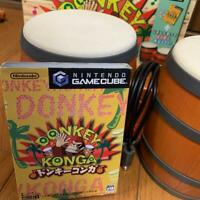 Nintendo GameCube Donkey Conga drum and software Game Equipment JAPAN F/S W/T
