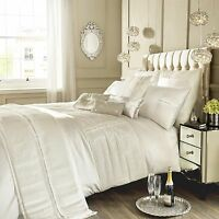 Designer Kylie Minogue ELEANORA Cream Bed Linen Bedding Quilt Duvet Cover New
