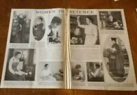 1917 Women In Science - Two Page Article  10 Photo-Illustrations With Short Bios