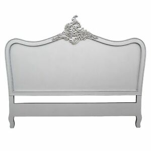 French Style Antique Style Silver 5ft King Size Hardwood Headboard Bedroom