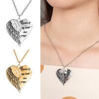 Jewelry My Heart Has Wings Angel Wing Necklace Rhinestone Heart Shape Pendant