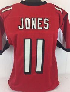 Julio Jones Unsigned Custom Sewn Red Football Jersey Size - L, XL, 2XL