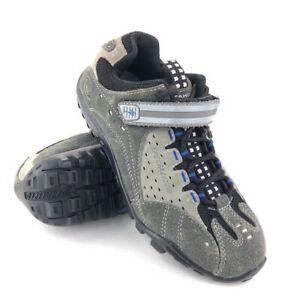 Specialized Taho MTB Cycling Shoes Womens Size 7 EUR 37 Gray Leather Lace Up SPD