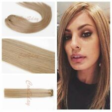 Ombre Straight Black Blonde  Full Head Clip In Real Remy Human Hair Extensions