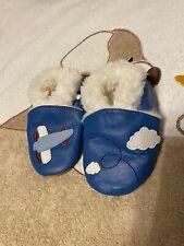 Baby Hausschuhe Schuhe Impidimpi Blau 6-12Mon Neuwertig
