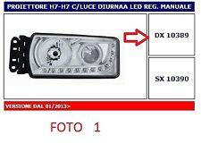10389 FARO PROIETTORE (HEAD LAMP) DX H7-H7 C/LUCE DIURNA LED REG. MANUALE IVECO