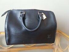 Louis Vuitton Authentic Epi Leather Black speedy 25 Purse Hand Bag Auth LV