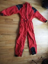 Vintage Roffe Women's Ski Jacket Ski Snow Suit Size 14 Red