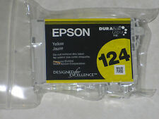 Genuine Epson 124 T124 Yellow Color Ink Cartridge. Very Cheap w/Free Shipping!