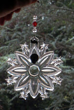 Waterford Christmas Snow Crystal ORNAMENT  w/ removable 2010 tag -new - Boxed