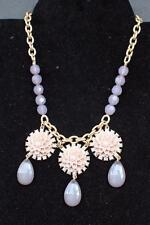 "New Signed LIA SOPHIA Goldtone Rhinestones EXOTIC BLOOM 18"" Necklace"