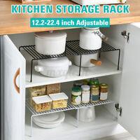 Adjustable Hanging Closet Shelf Cabinet Storage Rack Holder Kitchen Organizer