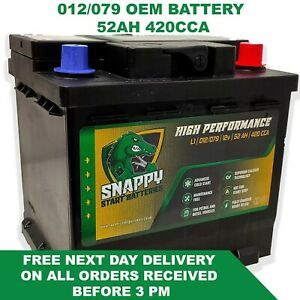 012 079 Battery 52ah Fully Charged SEAT SKODA SMART MINI VAUX FITS MANY MORE