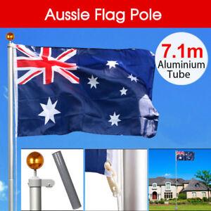 Australian Aussie Flag Pole Telescoping Flagpole Full Set 7.1M meter Aluminium
