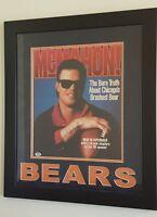 Jim McMahon Signed Chicago Bears 27x33 Custom Framed Photo PSA/DNA COA