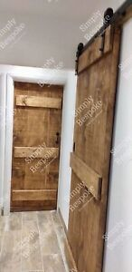 FARMHOUSE SOLID RUSTIC LEDGED DOORS - BESPOKE - MADE TO MEASURE 45mm