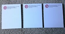 New Listingnew 3 Memo Pads 425 X 55 White Plain Sheets Top Glued Notebooks Scratch Pads
