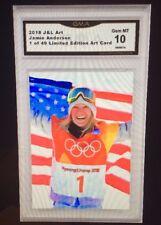 2018 Jamie Anderson Art Card /49 Olympics ACEO Gem MT 10