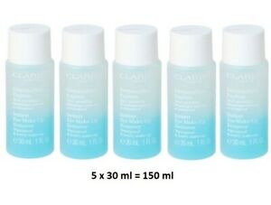 Clarins Instant Eye Make Up Remover - New - 5 x 30 ml = 150 ml