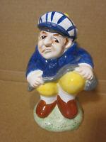 Angry Golfer Breaking Club Ceramic Piggy Bank w/ Stopper Omnibus OC Fitz & Floyd