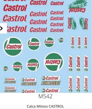 Mitoos M542 Castrol Decal Water Slides 1:32 Scale