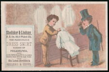 SHEDAKER & LINDSAY Philadelphia PA Vintage Victorian Trade Card Dress Shirts