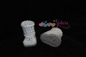 Crochet Baby Boots - Baby Booties - Crochet Boots - Snuggly Baby Boots - Newborn