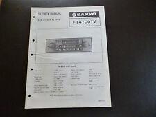 ORIGINALI service manual SANYO FT 4700tv